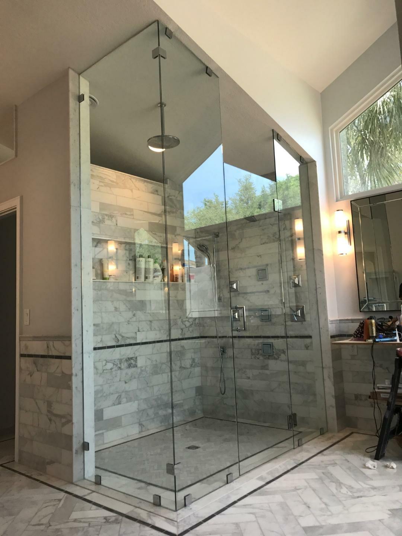 90 Custom To Ceiling Jv Shower Doors